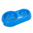 DAODANGUI C1306 Dual Food & Water Dish Feeder Bowl for Pet Puppy - Blue