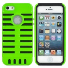 Detachable Protective Back Case for iPhone 5 - Black + Green