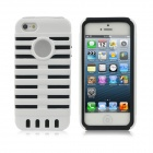 Detachable Protective Back Case for iPhone 5 - Black + White