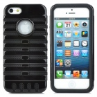Protective Silicone + PC Plastic Case for iPhone 5 - Black