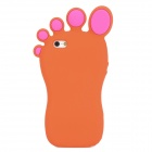 Funny Foot Style Protective Silicone Case for Iphone 5 - Orange + Deep Pink