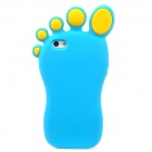 Funny Foot Style Protective Silicone Case for Iphone 5 - Blue + Yellow