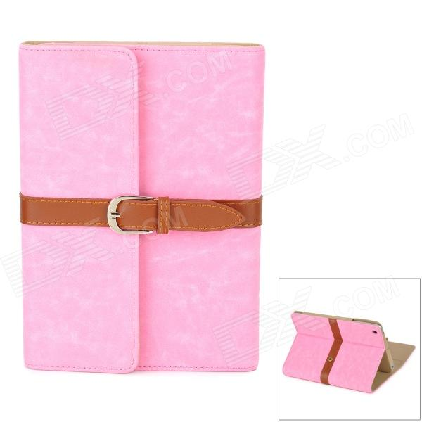 Retro Book Style Protective PU Leather Case w/ Buckle for Ipad MINI - Pink protective pu leather magnetic buckle case for ipad mini deep pink