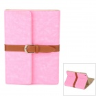Retro Book Style Protective PU Leather Case w/ Buckle for Ipad MINI - Pink