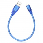 USB to Mini 5 Pin Charging & Data Cable - Blue (30cm)