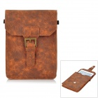 Protective PU Leather Pouch for iPad Mini - Brownish Yellow