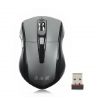 FreeSwallow 9311 2.4GHz Wireless 1000/1600dpi Optical Mouse - Black + Grey (2 x AAA)
