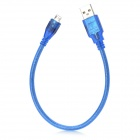 USB Mies Micro USB Mies Data Charging Connection Cable - Translucent Blue