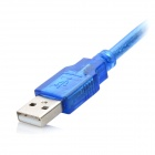 USB Male to Micro USB Male Data Charging Connection Cable - Translucent Blue
