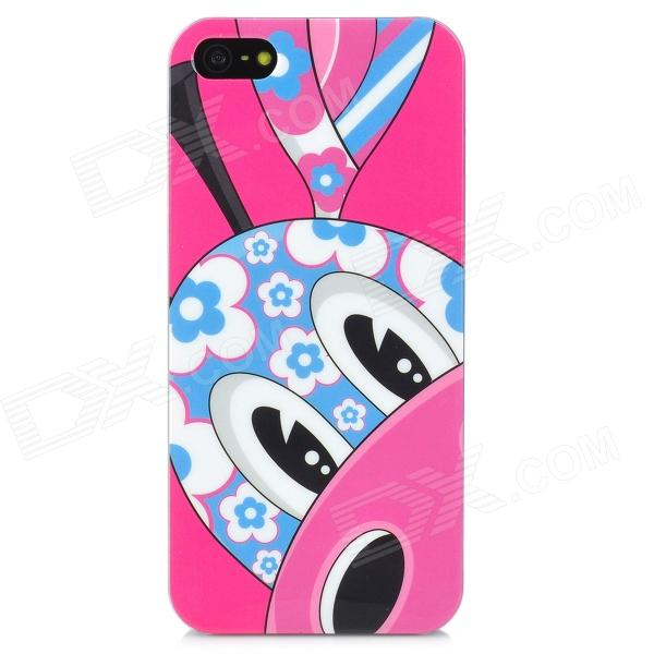 Airwalks Cartoon Giraffe Pattern Protective PC Back Case for Iphone 5 - Deep Pink + Blue + White