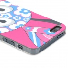Caso del modelo Airwalks jiraf Protective PC para Iphone 5 - de color rosa oscuro + azul + blanco