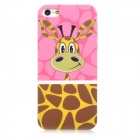 Airwalks Cartoon Giraffe Style Protective PC Back Case for Iphone 5 - Brown + Yellow + Pink