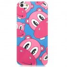 Airwalks Cartoon Hippo Style Protective PC Back Case for Iphone 5 - Pink + Blue + White