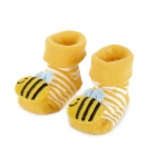 Cute Bee Shaped Cotton Non-Slip Baby Socks - Yellow (Pair)