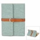 Retro Book Style Protective PU Leather Case w/ Buckle for Ipad MINI - Pale Blue