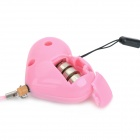AIBLI IBL-FI01 Heart Shape Hand-Pull Style Anti Lady-Killer Losing Alarm w/ Flashlight - Pink