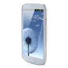 Crystal Coating Protective Back Case for Samsung Galaxy S3 / I9300 - White + Silver