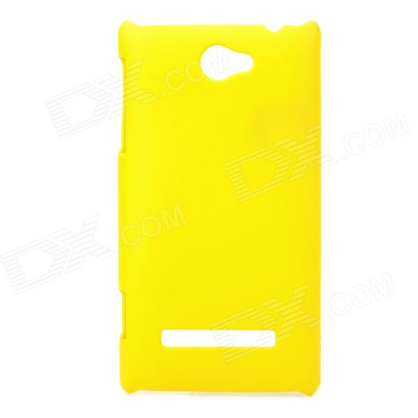 Protective Plastic Back Case for HTC 8S - Yellow