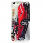 Cool 3D Sport Car Pattern Protective Back Case for Iphone 5 - Red