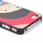 Cartoon Girl Pattern Protective PC Back Case for Iphone 4 / 4S - Red + Black