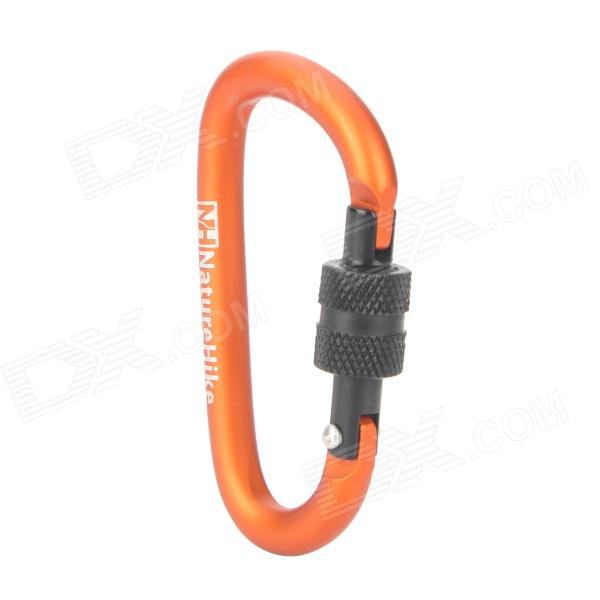 NatureHike-NH D Shape Aluminum Alloy Screw Gate Locking Carabiner - Reddish Orange