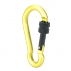 Munkees 3247 Gourd Shape Aluminum Alloy Screw Gate Locking Carabiner - Green