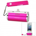 JLW-168 Portable External 2800mAh Emergency Power Bank für iPhone 5 / iPod Touch 5 - Deep Pink