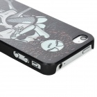 Protective Lady Skull Pattern PC Case for Iphone 4 / 4S - Black + White
