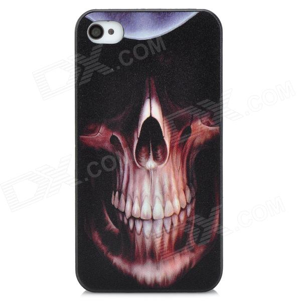 Big Nostril Skull Head Embossed Pattern Protective PC Hard Back Case for Iphone 4 / 4S - Black аксессуар чехол xiaomi redmi note 5a zibelino classico black zcl xia not5a blk
