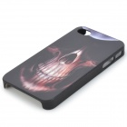 Big Nostril Skull Head Embossed Pattern Protective PC Hard Back Case for Iphone 4 / 4S - Black