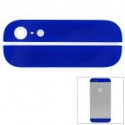 Replacement Top + Bottom Glass Back Cover for iPhone 5 - Deep Blue