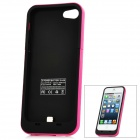 Rechargeable 2000mAh USB External Battery Case for iPhone 5 - Deep Pink + Black
