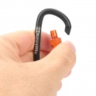 NatureHike-NH D-Shape Aluminum Alloy Screw Gate Locking Carabiner - Black
