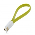 Universal Bracelet Style Magnet Micro USB Data Charging Cable  - Yellow Green (18cm)