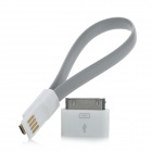 Micro USB to 30pin Adapter + Magnet Micro USB-Ladekabel für iPhone 4 + Samsung - Grey