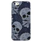Skull Head Pattern Protective PC Hard Back Case for Iphone 5 - Black + White