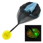 Hand-Tossed LED Blue / Red / Green Light Parachute Toy - Black + Blue (3 x L736)