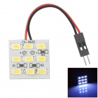 D13010903X T10 Festoon 2.88W 234lm 9-SMD 5630 LED White Car Dome Lights