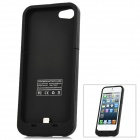 Rechargeable 2000mAh External Battery Case for iPhone 5 - Black