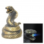 Einzigartige Cobra Form winddicht Butan Gas Lighter - Bronze