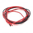 18AWG Soft Silicon Wires for R/C Airplane - Black + Red (2 PCS / 100cm)