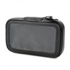 360 Degrees Rotatable Motorbicycle Bike Mount w/ Water Resistant PU Bag for Cell Phone - Black