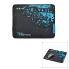 E-blauem Tuch + Rubber Game Mouse Pad - Black + Blue (S-Size)