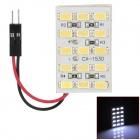 D13010905X T10 + Festoon 4.8W 390lm 15-SMD 5630 LED White Car Dome Lamp