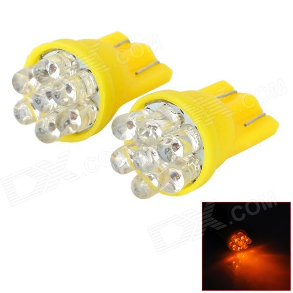 D13010813X T10 0.3W 90lm 570nm 7-LED Yellow Light Car Breite Lampen (2 PCS)
