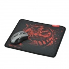 Teamscorpion Reaver Cloth + Rubber Game Mouse Pad - Black + Red