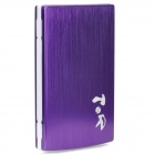 "Multi-Function Rechargeable ""10000mAh"" USB External Battery Power Bank w / Adapter - Purple"