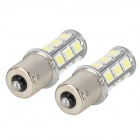 K2013010728 1156 4W 180~240lm 18-SMD 5050 LED White Car Steering / Backup Lights (2 PCS)