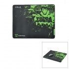 E-BLUE Cloth + Rubber Game Mouse Pad - Black + Green (L-Size)