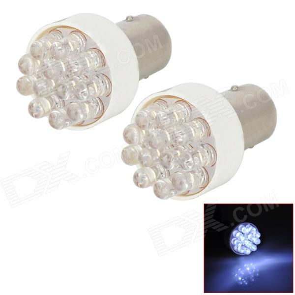 LY234 1157 1.2W 25lm 12-LED White Car Brake Lights (DC 12V / 2 PCS)